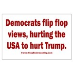 Flip to Hurt Trump Large Poster