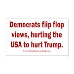 Flip to Hurt Trump 20x12 Wall Decal
