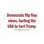 Flip to Hurt Trump 35x21 Wall Decal