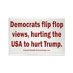 Flip to Hurt Trump Rectangle Magnet