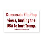 Flip to Hurt Trump Rectangle Car Magnet
