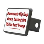 Flip to Hurt Trump Rectangular Hitch Cover