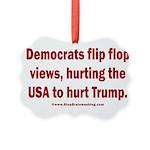 Flip to Hurt Trump Picture Ornament