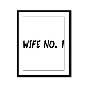 """Wife No. 1"" Framed Panel Print"