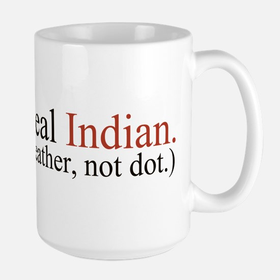 """""""Feather, not dot"""" Large Mug"""