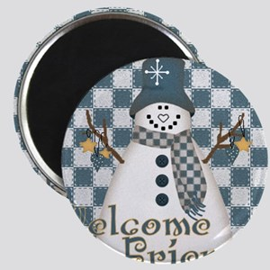 Welcome Snowman Magnet