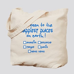 Happiest Places on Earth Tote Bag