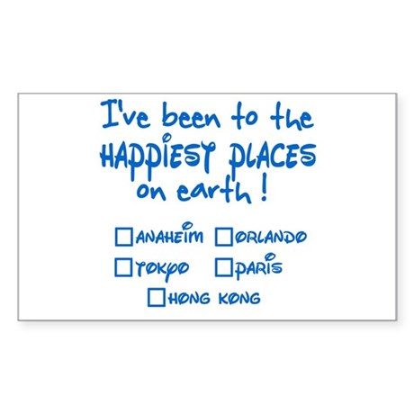 Happiest Places on Earth Rectangle Sticker