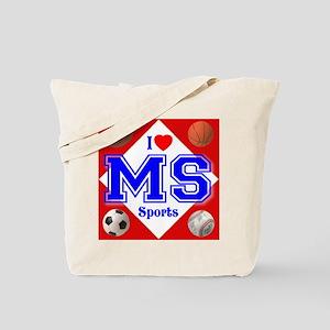 I Love USA Sports Tote Bag