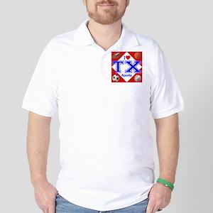 I Love TX Golf Shirt