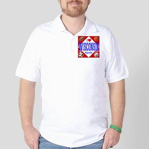 I Love Wisconsin Golf Shirt