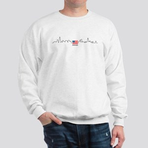 US Flag Chicago Skyline Sweatshirt