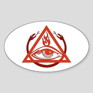 Order of the Triad Oval Sticker