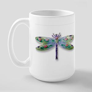 Dragonfly Lily Large Mug