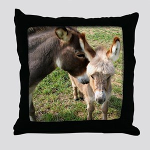 Donkey Mother's Love Throw Pillow