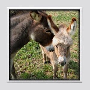 Donkey Mother's Love Tile Coaster