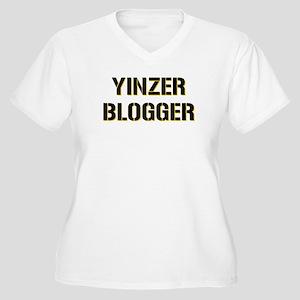 Yinzer Blogger Women's Plus Size V-Neck T-Shirt