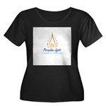 Paradise Women's Plus Size Scoop Neck Dark T-Shirt