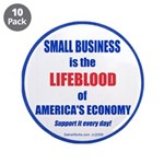 "SMALL BUSINESS 3.5"" Button (10 pack)"
