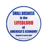 "SMALL BUSINESS 3.5"" Button"
