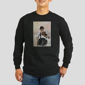 Old Time Fiddler Long Sleeve Dark T-Shirt
