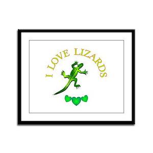 Lizards Framed Panel Print