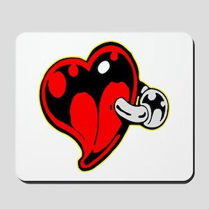 Tattoo Heart Body Piercing Ring Mousepad