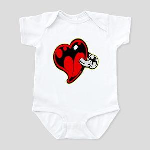 Tattoo Heart Body Piercing Ring Infant Bodysuit
