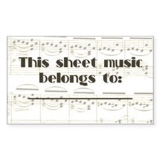 Sheet Music Label Sticker