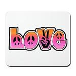 Peace and Love Mousepad