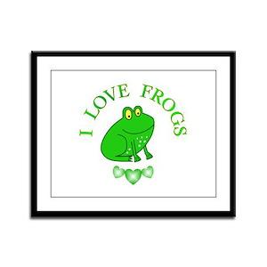Frogs Framed Panel Print