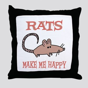 Rats Throw Pillow