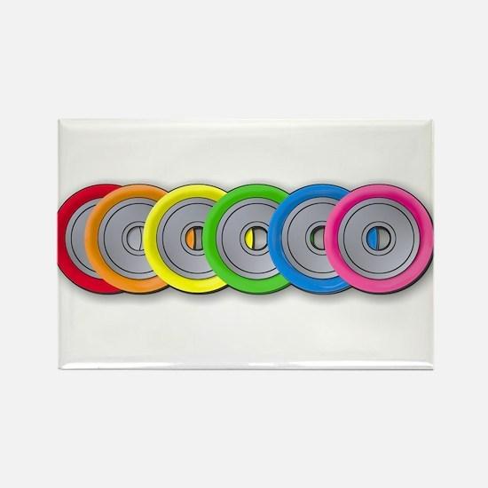 Wheel Rainbow Rectangle Magnet