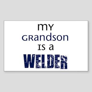 My Grandson is a Welder Rectangle Sticker