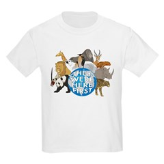They Were Here First Kids Light T-Shirt