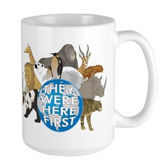 They Were Here First Large Mug