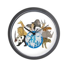 They Were Here First Wall Clock