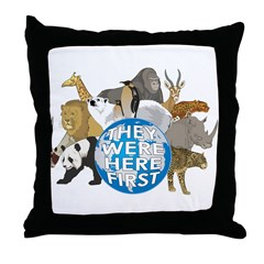 They Were Here First Throw Pillow