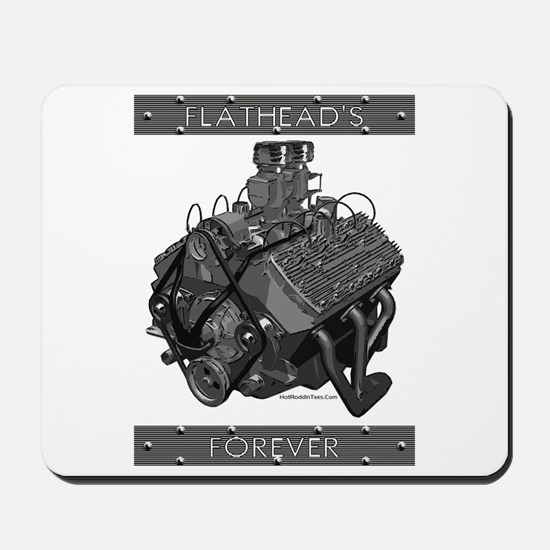 Flatheads Forever!-Grey Mousepad