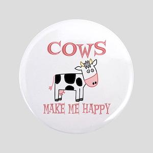 """Cows 3.5"""" Button"""