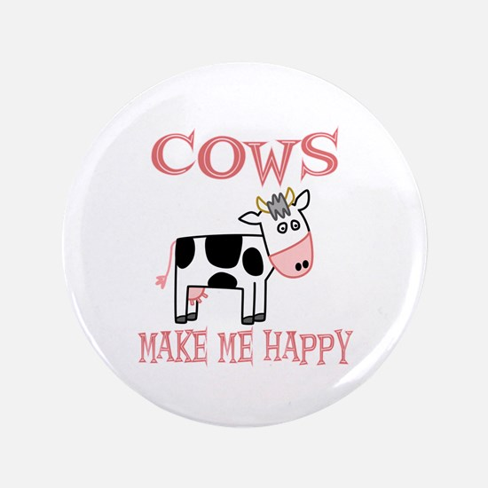 """Cows 3.5"""" Button (100 pack)"""
