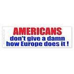 Don't give a damn (Bumper Sticker)