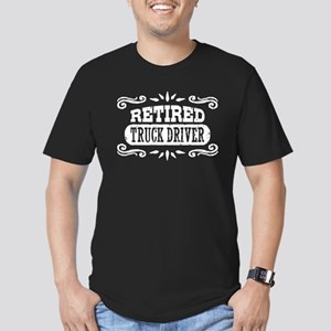 Retired Truck Driver Men's Fitted T-Shirt (dark)