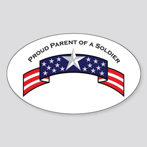 Proud Parent of a Soldier Sta Oval Sticker