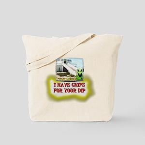 Albert Alien Chips 4 Dip Tote Bag