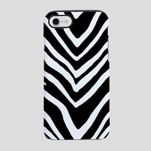Zebra Striped Pattern iPhone 7 Tough Case