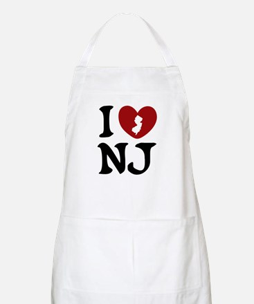 I Love New Jersey BBQ Apron