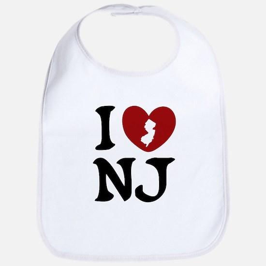 I Love New Jersey Bib