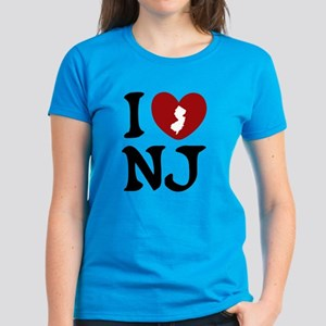 I Love New Jersey Women's Dark T-Shirt
