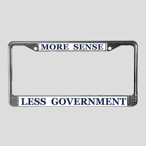 More Sense ~ License Plate Frame